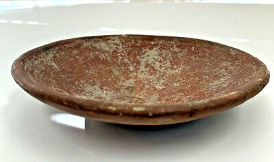 Ancient Pre-Columbian terracotta bowl very nice vintage artifact