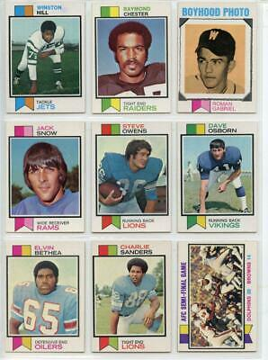 1973 73 Topps Football LOT YOU PICK SINGLES 15/$2 -- COMPLETE YOUR SET!! 10/15