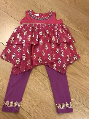 New Girls Monsoon Leggings And Top Set Age 2-3