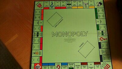 Vintage Monopoly board game spare / replacement board only Christmas game