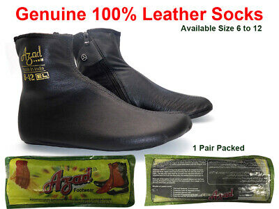 New Azad Leather Zipper Socks / Khuffs / Footwear (Various Sizes)Premium Quality