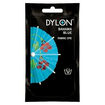 50g PACK DYLON FABRIC CLOTHES HAND WASH DYE - Bahama Blue