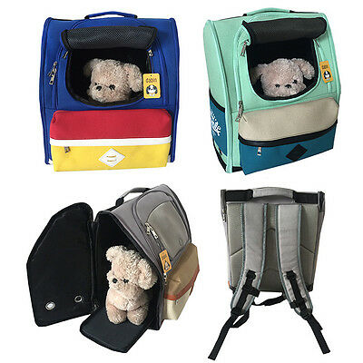 Portable Pet Carrier Soft Sided Mesh Large Cat Dog Puppy Bagpack Travel Bags