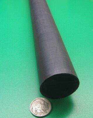 "Black POLYMER Extruded Nylon 6//6 Rod,Nylon,Extruded,Blk,2/"" Dia x 1 ft L 2XPC4"