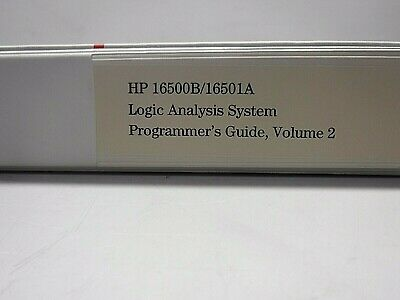 HP 16500B/16501A Logic Analysis System Programmers Guide Vol.2