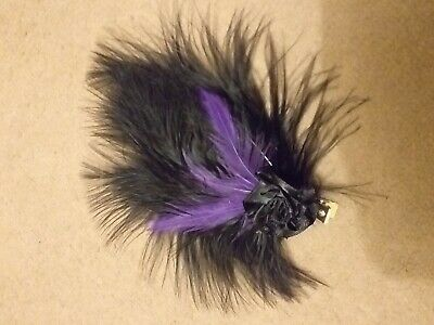Black feather hair accessories