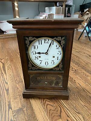 31 Day Regulator Wall Clock - Wooden Schoolhouse Style Wind Up LOCAL PICK UP!