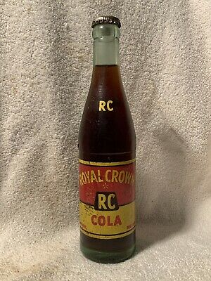 FULL 10oz ROYAL CROWN COLA ACL SODA BOTTLE ATHENS, GA