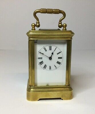 Francois Arsene Margaine miniature carriage clock, cylinder escapement 1850-1860