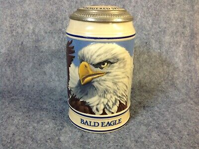 Budweiser Bald Eagle Stein W/ Lid Great Condition