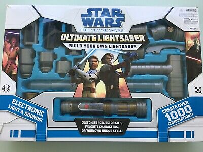 Star Wars The Clone Wars Ultimate Lightsaber - Build Your Own In Box