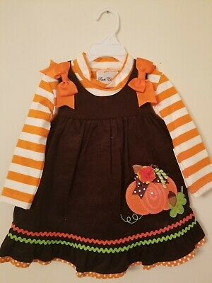 Infant Toddler Baby Rare Editions Fall Long Sleeves Dress Size 18 Months New