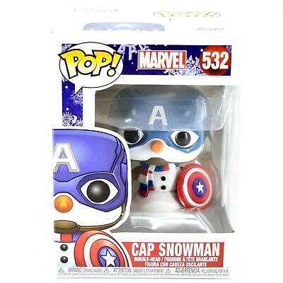 Funko Pop! Marvel Christmas Holiday Cap Snowman Captain America #532 Figure