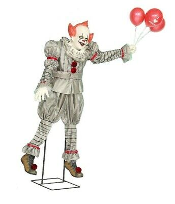 7 FT Animated PENNYWISE FLOATING IN AIR Halloween Prop IT CHAPTER 2