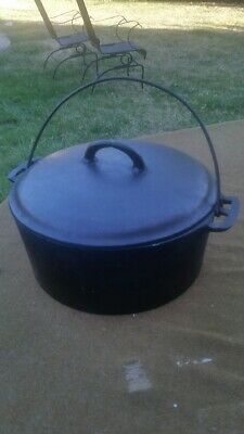 Antique Vintage Wapak Early Logo #9 Cast Iron DUTCH OVEN 100+ Years Old