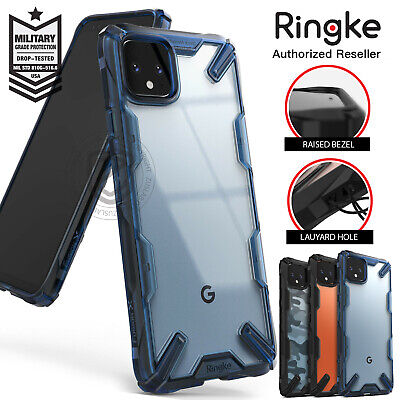 Google Pixel 4 XL Case Genuine Ringke Fusion X Clear Back ShockProof Hard Cover