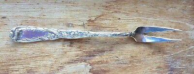 Early CHRYSANTHEMUM  TIFFANY   Sterling  2 Tine   BUTTER  FORK