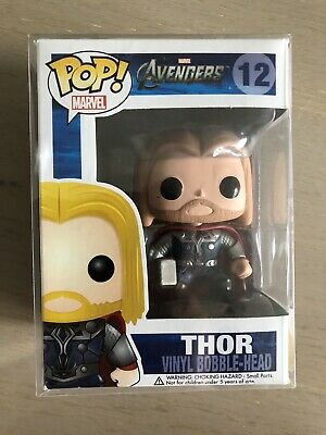 Funko POP! Marvel The Avengers #12 Thor Vaulted Rare Includes Soft POP Protector