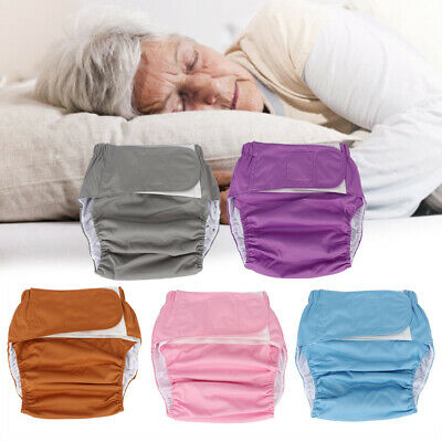 Waterproof Washable Reusable Adult Elderly Cloth Diapers  Pocket Nappies Hot