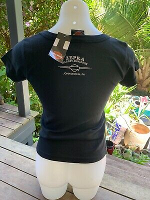 harley davidson ladies tshirt thunder in the valley small