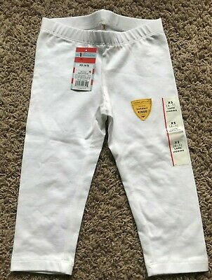 New with Tags Target Girls White Capri Legging Size XS 4/5