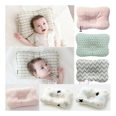 Soft Baby Cot Pillow Prevent Flat Head Cotton Cushion Infant Sleeping Support