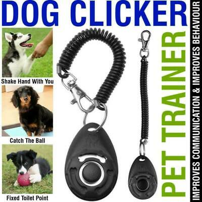 Dog Training Clicker Pet Trainer Teaching Tool For Dogs Puppy Whiffet 10 Colours