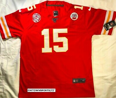 Patrick Mahomes 15 Red Chiefs Jersey- Stitched NFL 100 NEW w/tags Medium Large