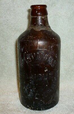 *Rare* Chapmans Famous Brewed Drinks - Amber Glass - Sa - Ginger Beer Bottle