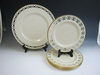 Lot of 5 Lenox China TRAPUNTO Salad Plates +1 Dinner Plate EXCELLENT
