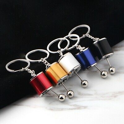 Car Modified Gear Shifter Gear Box Metal  Keychain Fob Gift Multi-color