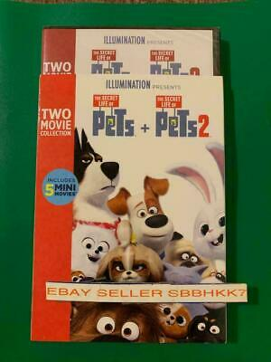 The Secret Life Of Pets 1 and  The Secret Life of pets 2 DVD 2 FILMS COLLECTION