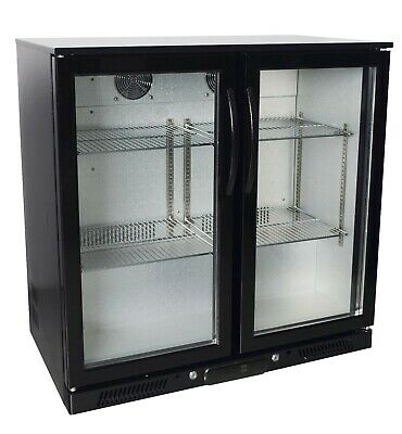 Zero Primo 2 Double Door Bar Bottle Beer Under Counter Display Fridge-GRADED
