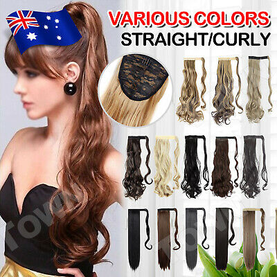 Hair ponytail Clip In as Real Human Hair Extensions Wrap Around Pony Tail Curly