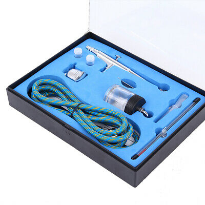 Airbrush Kit Compressor Spray Gun Dual Action Tattoo Paint Tool 0.2/0.3/0.5mm