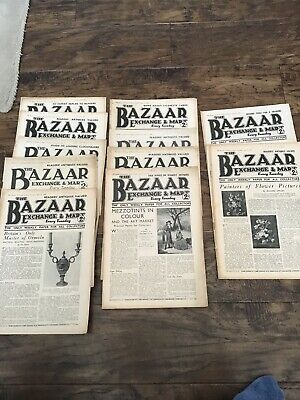 """Collection of 11 Vintage """"The Bazaar Exchange and Mart - 1936"""