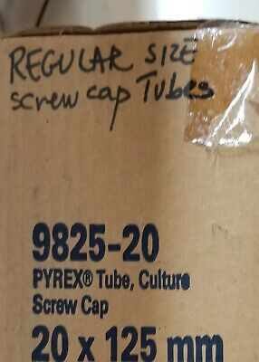 Pyrex 9825-20 Tubes with Screw Caps
