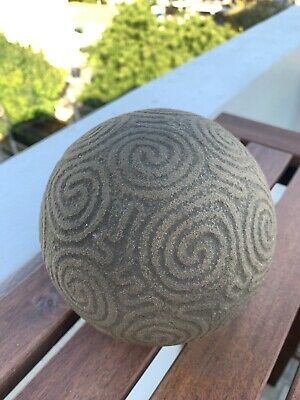 "Taino Pre Columbian Gray Stone ""Batey"" Game Ball Fine RARE Antique"