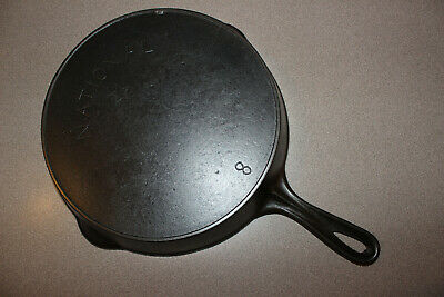 Vintage National Star #8 Cast Iron Skillet Heat Ring (WAGNER) Double Pour Spout