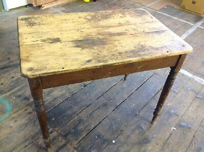 antique victorian original pine kitchen table
