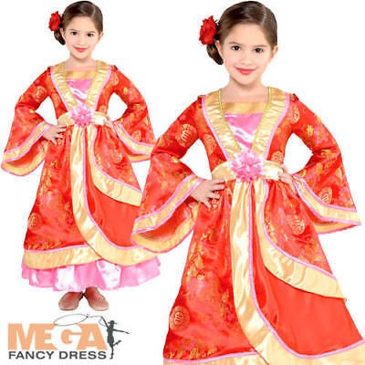Oriental Princess Girls Fancy Dress National Chinese Childrens Kids Costume New