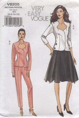 Vogue Designer Sewing Pattern Misses Sexy Top Skirt Pants Easy Sew