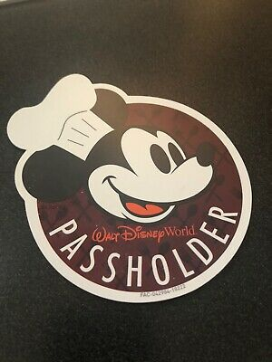 Walt Disney World Annual Passholder Magnet- Food and Wine Festival Mickey Mouse