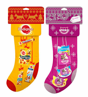 Pedigree Christmas Dog Stocking & Whiskas Xmas Cat Stocking Multipack