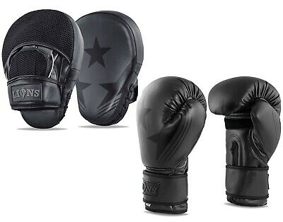 Boxing Gloves and Focus Pads Set Hook & Jab Mitts Punch Bag Gym Training MMA