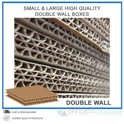 Double Wall Cardboard Boxes Moving Postal Small & Large Removal Cartons 130Kt