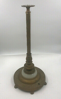 Antique  Bronzed Cast Iron Glass Art Nouveau Floor Lamp Base, table base