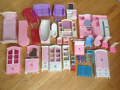 Gloria My Fancy Life Barbie Size Dollhouse Furniture Set Lot of Over 30+ Pieces