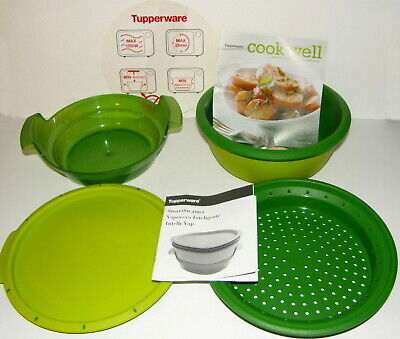 NEW TUPPERWARE Smart Steamer Microwave Stack Cooker w/ INSTRUCTION & RECIPE