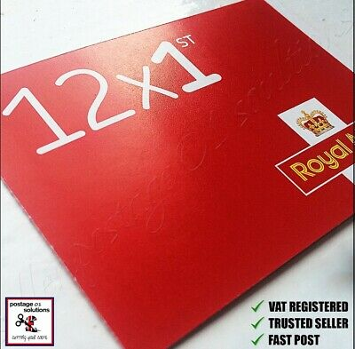 100 1St Class Red Unfranked Stamps Off Paper No Gum Security Value £71 Save £21